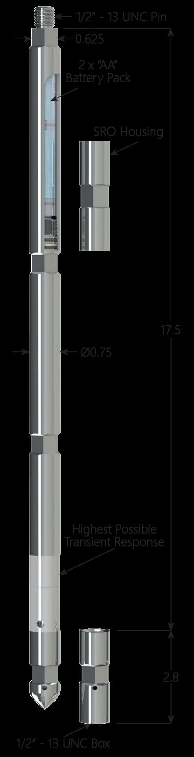 """0.75"""" Quartz Memory Pressure Gauge"""